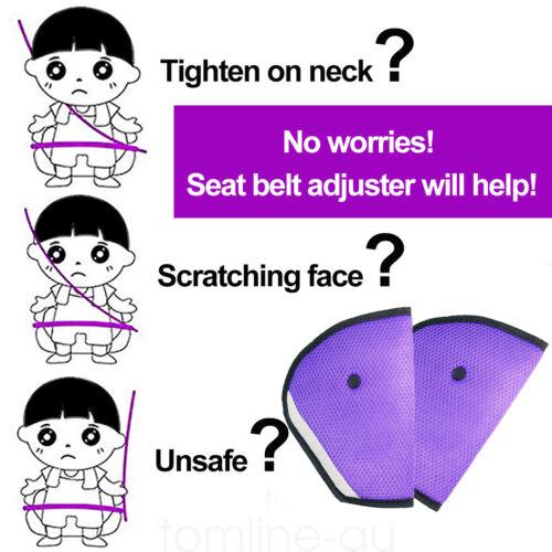 2pcs Car Seat Belt Holder Safety Belt Adjuster Protector for