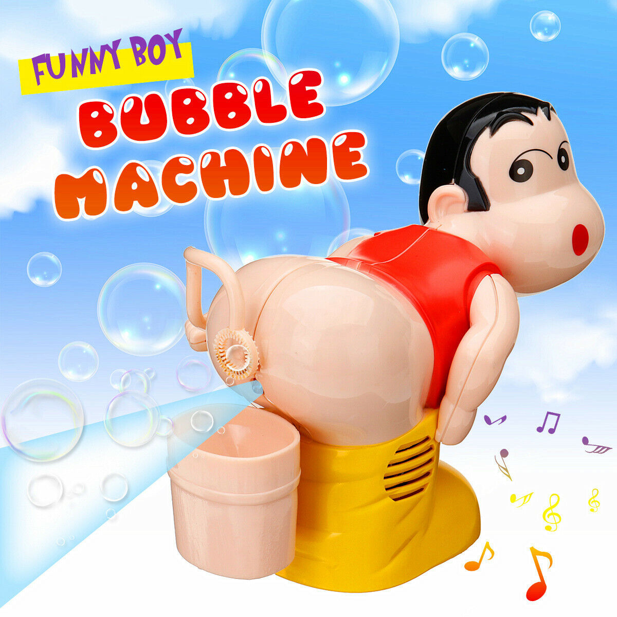The Funny Automatic Fart Bubble Blower-Bubble Maker Toy Boy Stick Blower Machine