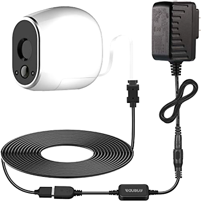 Frienda Adapter with 20 Feet/6 m Power Cable Compatible with Arlo (Replace CR1