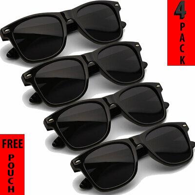 MENS WOMENS SUNGLASSES UNISEX GLASSES WAYFARE STYLE RETRO ALL BLACK SUNGLASS  (Sunglasses Wayfarer Style)