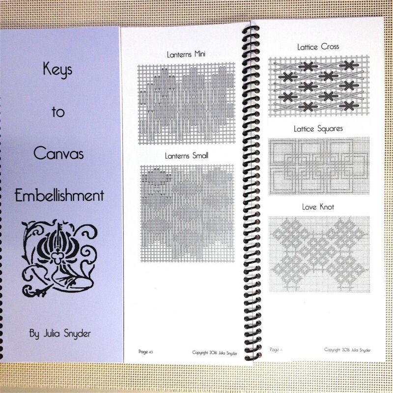Needlepoint Stitch Reference Book Julia Snyder Keys to Canvas Embellishment