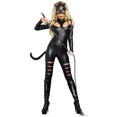 Cat Woman Costume Adult Sexy Halloween Fancy Dress