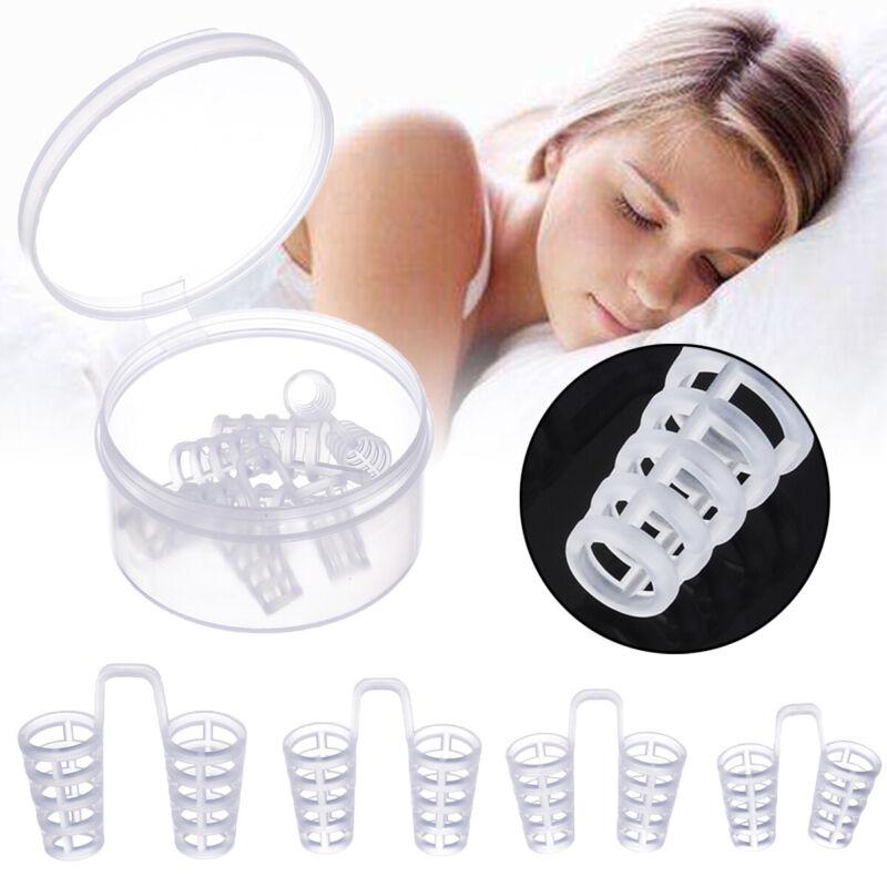 4Pcs Stop Snoring Nose Vents Clip Anti Snore Sleep Apnea Nas