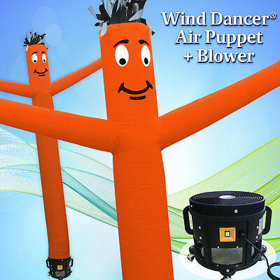 15 Orange Wind Dancer Air Puppet Sky Wavy Man Dancing Inflatable Tube Blower