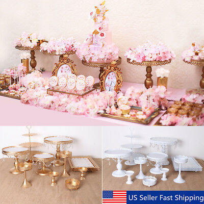 12Pcs Set Crystal Metal Cake Holder Cupcake Stand Wedding Birthday Party Display](Cheap Cake Stands)