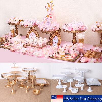 12Pcs Set Crystal Metal Cake Holder Cupcake Stand Wedding Birthday Party Display](Cupcake Displays)