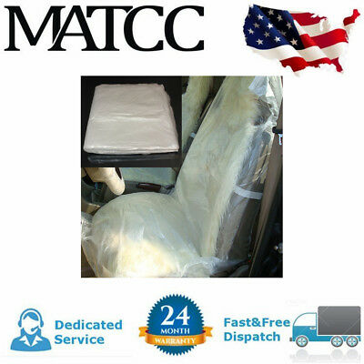 100pcs Pack Disposable Clear Plastic Car Seat Covers Protector Mechanic Valet