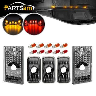 5pc Smoke Cab Marker Roof Running Top Lights w/Bulbs for Hummer H2 SUV SUT 03-09 Hummer Roof Lights