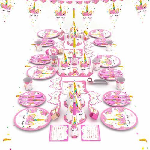 98 tlg Party Set Einhorn 1 Geburtstag Partyset Kindergeburtstag Mädchen Kinder
