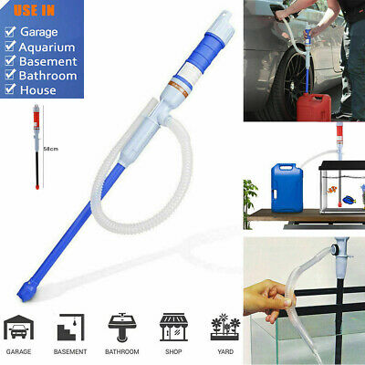 Transfer Liquid Electric Siphon Pump Hand Gas Oil Water Fishbowl Battery Power