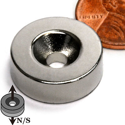 Cms Magnetics N45 Neodymium Disc Magnet 58x 14 With One 6 Countersunk Hole