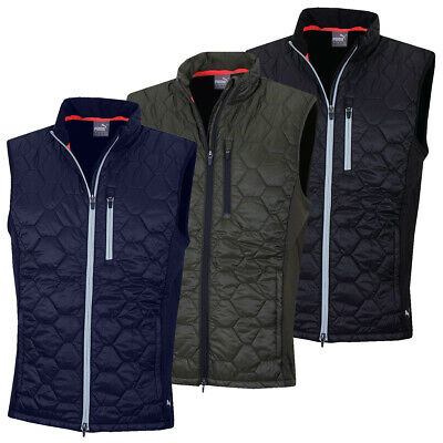 Puma Golf Mens Dassler Primaloft Insulation Water Resistant Gilet 55% OFF RRP