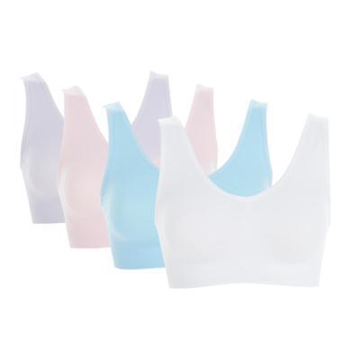 Rhonda Shear Seamless Ahh Bra 4-pack in Pastels, 3X (567067)