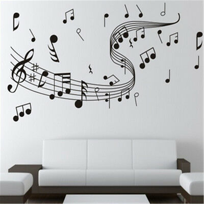 Music Notes Band Room Home Removable Wall Stickers Decals Vinyl DIY Art Decor US - Music Note Decorations