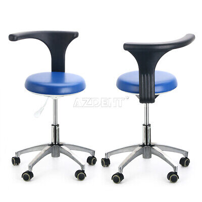 2dentist Doctor Assistant Stool Office Adjustable Mobile Chair Pu Leather Black