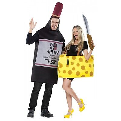Wine and Cheese Costumes Adult Funny Couples Halloween Fancy Dress - Costumes Couples Halloween