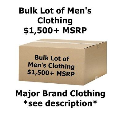 $1,500+ Wholesale Lot of Men's Clothing - Major Designer Brand Names