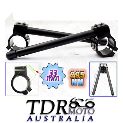 Black 33mm CNC Clip-On Clip On Handlebar For Yamaha XS-360 C/D/2D 76-77  - $49.95