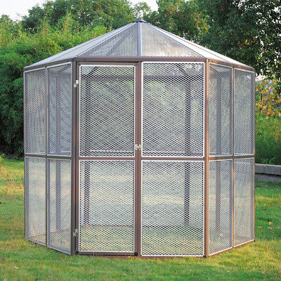 New Huge Heavy Duty Walk-in Bird Aviary Cage Parrot Macaw Flight Playtop Cage