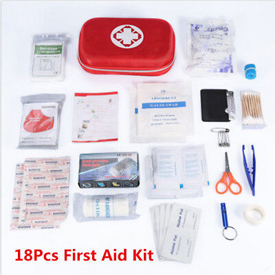 18Pcs First Aid Kit Emergency Medical Bag Home Car Outdoor Travel Survival Bag for sale  China