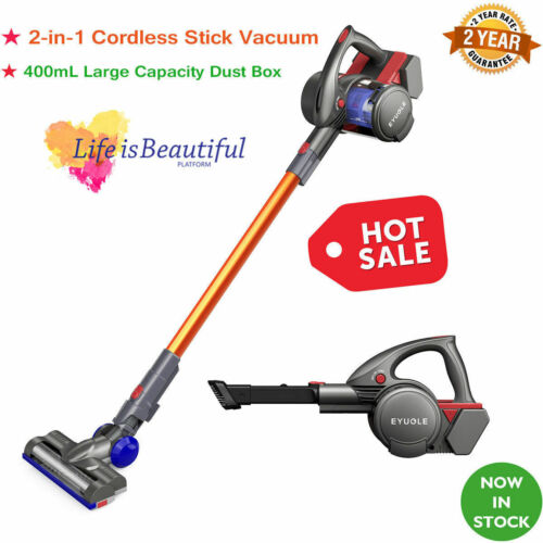 Eyugle 2 in 1 Cordless Handheld Vacuum Cleaner Stick HEPA Fi