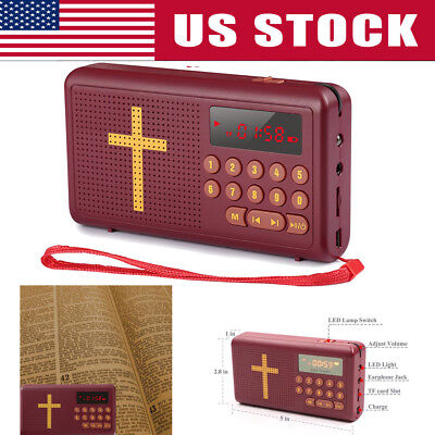 Rechargeable Audio Player Electronic Bible Talking King James- Version  English