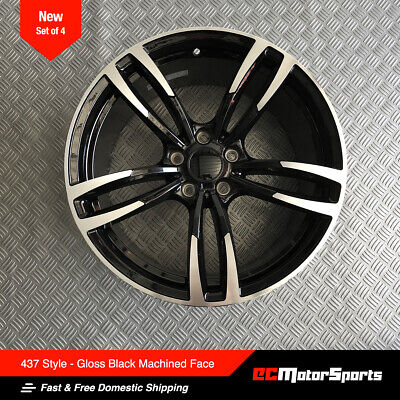 "19"" 437 M 3 Style Wheels Black Machined Staggered for BMW F30 328i 335i 340i"