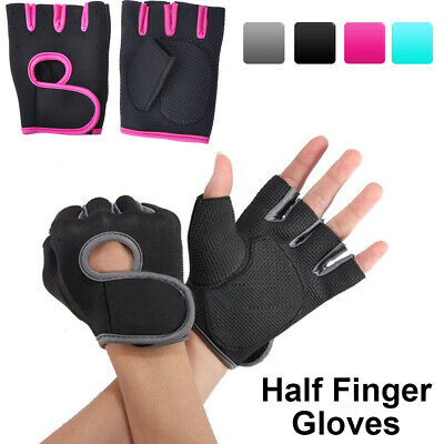 Women Men Half Finger Work Out Gym Gloves Sport Weight Lifting Exercise Fitness ()