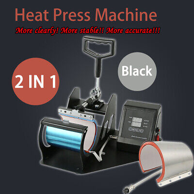 Digital Display Heat Press Transfer Sublimation Machine For Diy Mug Coffee Cup