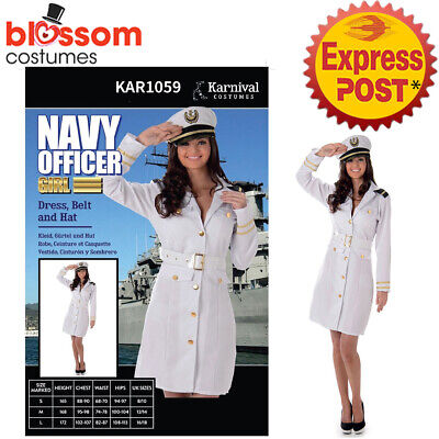 CA948 White Sailor Captain Costume Navy Officer Uniform Sea Marine Pin Up Outfit - Marine Outfit