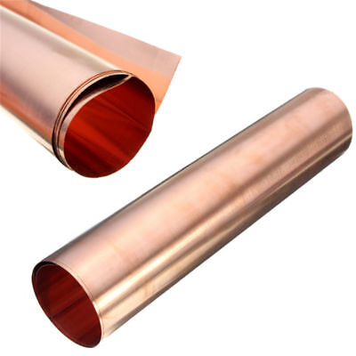 99.9 Pure Copper Cu Metal Sheet Foil For Handicraft Aerospace 0.1x200x500mm