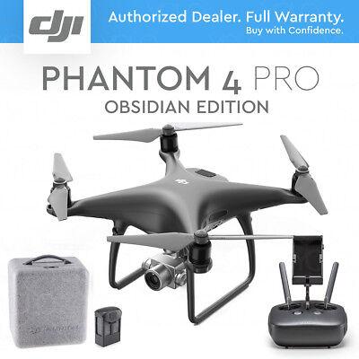 DJI PHANTOM 4 PRO DRONE with Gimbal Camera 4K 20MP. BLACK OBSIDIAN EDITION