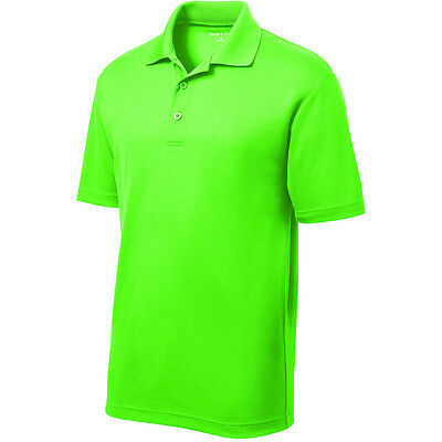 Mens High Vis Safety Dri  Fit Polo Work Golf Supervisor  Warehouse Shirt