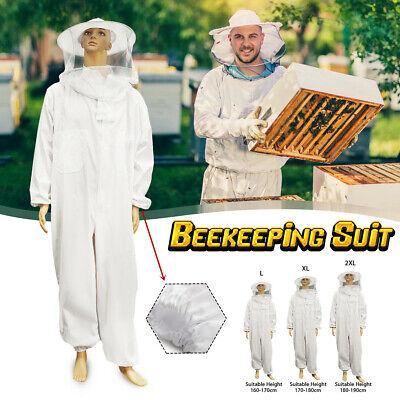 L Xl Xxl Professional Full Body Beekeeping Bee Keeping Suit Cotton W Veil Hood