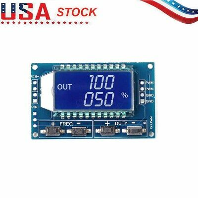 Pwm Pulse Frequency Duty Cycle Adjustable Module Signal Generator Lcd