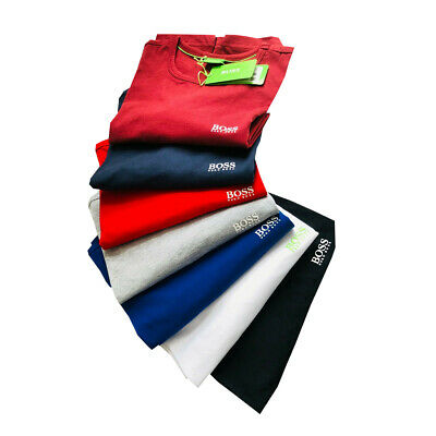 Mens Hugo Boss Short Sleeve Crew Neck T-Shirt Mega Sale !
