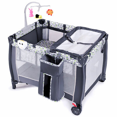 Crib and Changing Table Pack N Play with Sound Playpen Baby