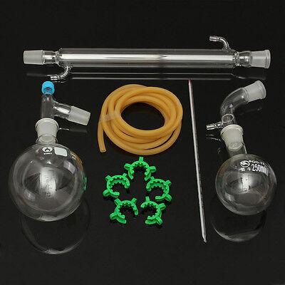 500ml 2429 Glass Distillation Apparatus Laboratory Chemistry Glassware Kits