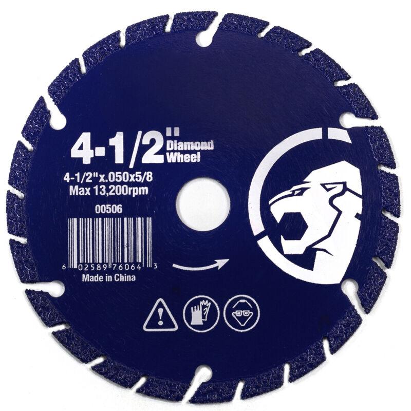 "4-1/2"" Diamond edge Metal Steel Iron Stainless Cut-Off Wheel Abrasive 5/8"" Arbor"