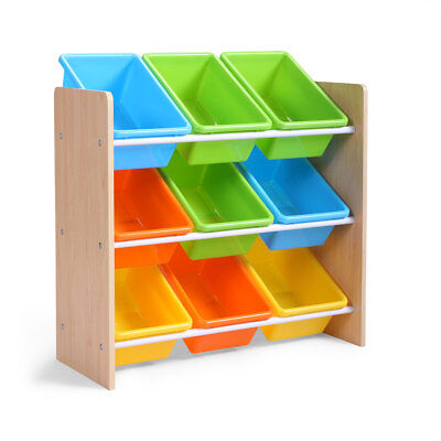 Multi-Color Toy Boxes Bins Organizer Kids Storage Playroom Bedroom - Color Boxes