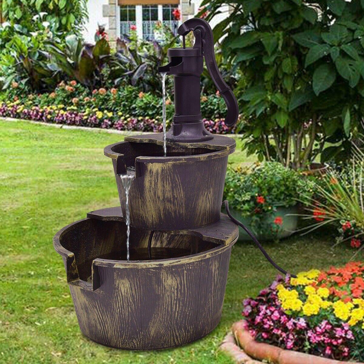 Zen Garden Water Fountain Pump Outdoor Indoor Porch Patio Ca