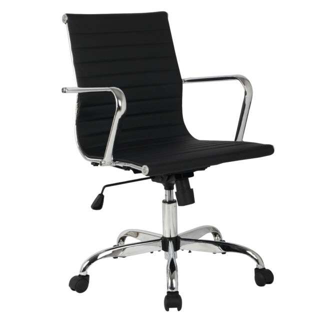 Modern Ergonomic Office Chair PU Leather HighampMed Back