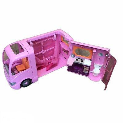 2008 Mattel Barbie Camper Van RV Pink Dream Glamour Motor home W/ Pop Out Tent