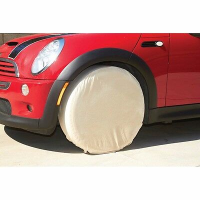 Heavy Duty Canvas Storm-proof Tire Wheel Covers Protection 24 Diameter 9 Wide