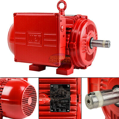 5hp Electric Motor 184t Frame 1730 Rpm Single Phase Weg Farm Duty Air Compressor