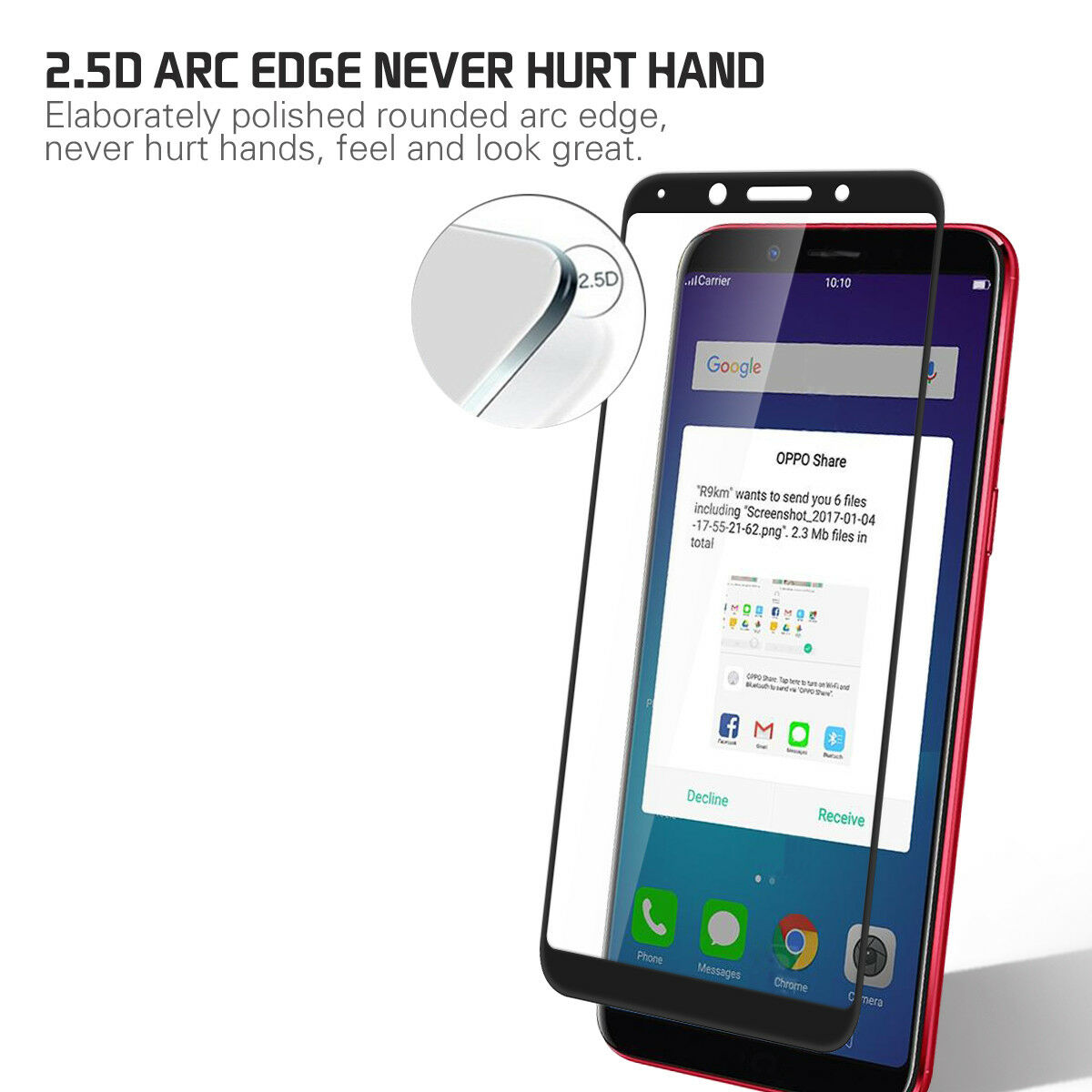 1 2pcs 9h Tempered Glass Film Screen Protector Full Cover For Oppo My User F1 Plus Clear 2x Protectors F5