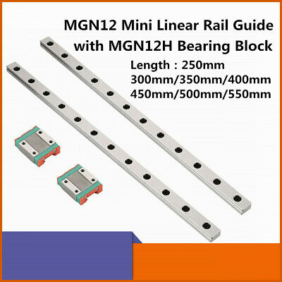 Mgn12 L250-550mm Mini Linear Rail Guidebearing Steel Rail Block For Cnc Machine