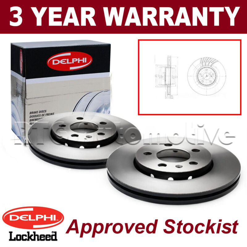 2x Front Delphi Lockheed Brake Discs For Lexus GS 300 430 BG9012