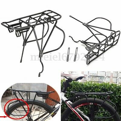 ALLOY BICYCLE DISC BRAKE REAR PANNIER RACK BAG/LUGGAGE CARRIER BIKE/CYCLE UK NEW