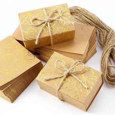 25* Gold Blatt Kraftpapier Geschenkbox Geschenkverpackung Hochzeit Dekoration